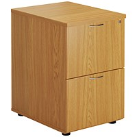 First Two Drawer Filing Cabinet Nova Oak KF79916