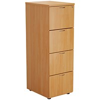 First Four Drawer Filing Cabinet Beech KF79917