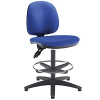 Arista High Rise Chair, Adjustable Footrest, Blue