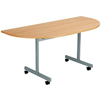 Jemini D-End Tilt Table 1600 x 800mm Beech/Silver