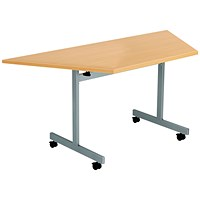 Jemini Trap Tilt Table 1600 x 800mm Beech/Silver