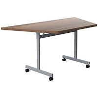 Jemini Trap Tilt Table 1600x800mm Dark Walnut/Silver