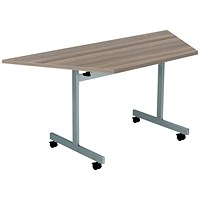 Jemini Trap Tilt Table 1600 x 800mm Grey Oak/Silver