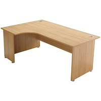 Avior Executive Corner Desk, Left-Hand, 1800mm Wide, Ash
