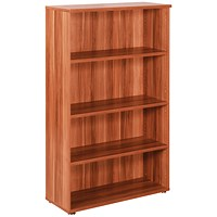 Avior Medium Bookcase, 1600mm High, Cherry