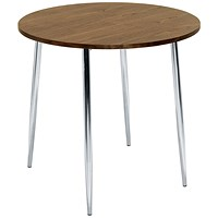 Arista Round Bistro Table - Walnut