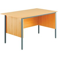 Jemini Intro Traditional Desk, 1200mm Wide, Beech