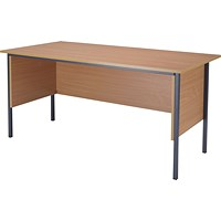 Jemini Intro Traditional Desk, 1500mm Wide, Beech