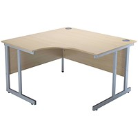 Jemini Intro Cantilever Corner Desk, Left Hand, 1200mm Wide, Maple