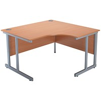 Jemini Intro Cantilever Corner Desk, Right Hand, 1200mm Wide, Beech