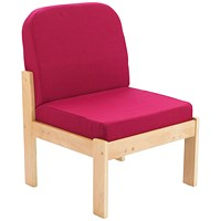 FF First Wooden Reception Side Chair Claret