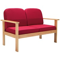 FF First Wooden Reception 2P Sofa Claret