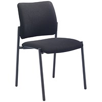 FF First Verona Fabric Side Chair Black Frame
