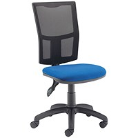 First Medway Mesh High Back Operator Chair - Blue