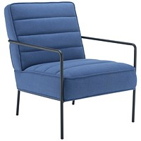 Jemini Reception Wire Frame Armchair Navy