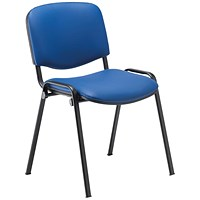 Jemini Ultra Multipurpose Stacker Chair Blue Polyurethane