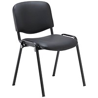 Jemini Ultra Multipurpose Stacker Chair Black Polyurethane