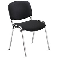 Jemini Multipurpose Stacker Chair Chrome/Black