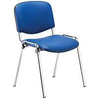 Jemini Multipurpose Stacker Chair Chrome/Blue Polyurethane