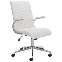 Arista Tarragona Leather Look Chair White