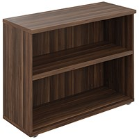 Avior Executive Bookcase 800mm Dark Walnut