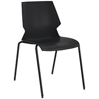 Jemini Uni 4 Leg Chair Black/Grey