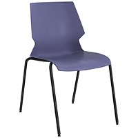 Jemini Uni 4 Leg Chair Blue/Grey