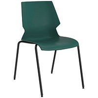 Jemini Uni 4 Leg Chair Green/Grey