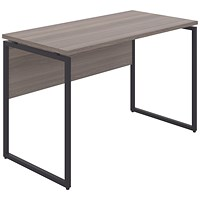 Soho Square Leg Desk Grey Oak/Black Leg