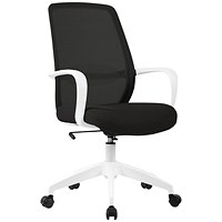 First Task Chair Black Mesh White Frame