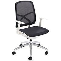 First Soho Task Chair Black Mesh/White