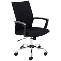 First One Task Mesh Chair With Arms - Black