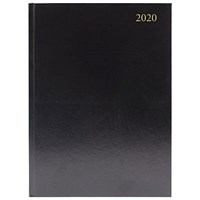2020 Diary A4, Day Per Page, Black