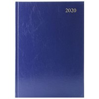 2020 Diary A4, Day Per Page, Blue