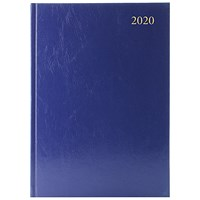 2020 Diary A5, 2 Days Per Page, Blue