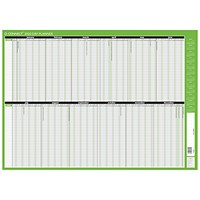 Q-Connect 2020-2021 Unmounted Day Planner - 855 x 610mm