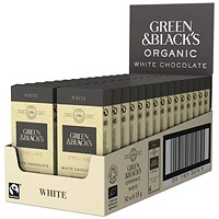 Green & Blacks 35g White Chocolate (Pack of 30) 611637