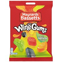Maynards Bassets Wine Gums Share Bags 165g (Pack of 12) 4011446