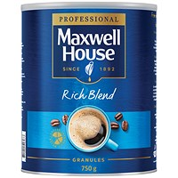 Maxwell House Instant Rich Blend Coffee Granules - 750g Tin