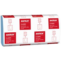 Katrin Classic Hand Towel One Stop M2 Blue 144 Sheets (Pack of 21) 38107