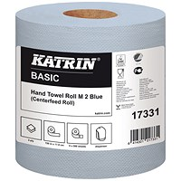 Katrin Classic Centrefeed Hand Towel 2-Ply Blue (Pack of 6) 17331