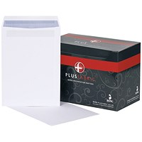 Plus Fabric C4 Pocket Envelopes, White, Press Seal, 120gsm, Pack of 250