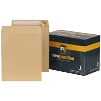 New Guardian Heavyweight Pocket Envelopes, 305x250mm, Manilla, Peel & Seal, 130gsm, Pack of 250