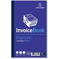 Challenge Carbonless Invoice Duplicate Book, 210mm x 130mm, Without VAT, Pack of 5