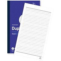 Challenge Carbonless Ruled Duplicate Book, 100 Sets, 297x195mm, Pack of 3