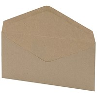 5 Star DL Envelopes, Window, Manilla, Gummed, 75gsm, Pack of 1000