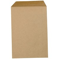 5 Star Plain C4 Envelopes, Manilla, Gummed, 80gsm, Pack of 500