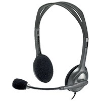 Logitech H110 Headset (1.8m cable length, 3.5mm audio out) 981-000271