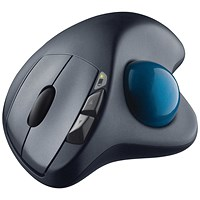 Logitech Wireless Trackball Mouse M570 Black
