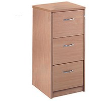 Momento Foolscap Filing Cabinet, 3-Drawer, Oak